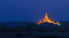 Ananda Phaya in the night. Bagan. Myanmar Stock Photos