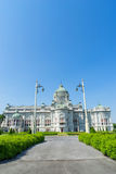 Ananda Samakhom Throne Hall under blue sky Stock Images