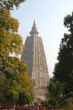Ananda Stupa och Asokan pelare på Kutagarasala Vihara, Vaishali, royaltyfria bilder