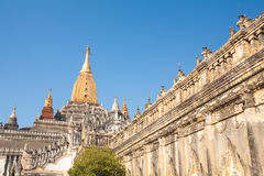 Ananda Temple on Bagan Plain, Myanmar, Burma Stock Image