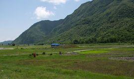 Ananpurna pasmo górskie, Nepal zdjęcie royalty free