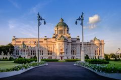 Ananta Samakhom pałac krajobraz w Bangkok Fotografia Royalty Free