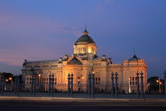 The Ananta Samakhom throne hall. At twilight in thailand Stock Images