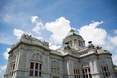 Ananta Samakhom Throne Hall. At Bright Blue Sky Stock Photos