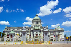Ananta Samakhom Throne Hall with blue sky Stock Photos