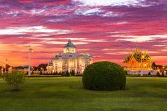 The Ananta Samakhom Throne Hall and Borom Mangalanusoranee Pavil Royalty Free Stock Images