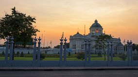 Ananta Samakhom Throne Hall at dusk, Bangkok Royalty Free Stock Photo