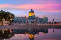 The Ananta Samakhom Throne Hall. Is the first congress of Bangkok, Thailand. Twilight time, Stunning sky Stock Photography