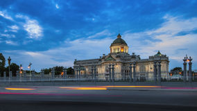 Ananta Samakhom Throne Hall at night, Bangkok, Thailand Stock Image