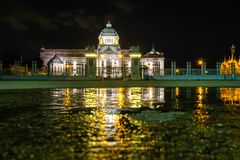 The Ananta Samakhom Throne Hall after the rain at night Stock Photos