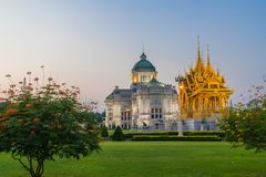 Ananta Samakhom Throne Hall and Royal Funeral Pyre. Of King Bhumibol of Thailand Stock Photography
