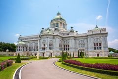 The Ananta Samakhom Throne Hall. In Thai Royal Dusit Palace, Bangkok, Thailand Stock Photo