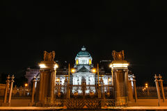 The Ananta Samakhom Throne Hall in Thai Royal Dusit Palace in the night time, Bangkok, Thailand. Royalty Free Stock Photos