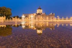 The Ananta Samakhom Throne Hall. (Thailand white house) in Royal Dusit Palace, Bangkok Thailand with water reflection Stock Photo
