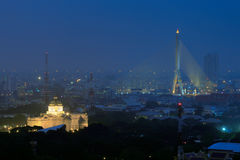 Ananta Samakhom Tronowy Hall i Ramy VIII most podczas fotografia royalty free