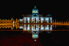 Ananta Samakom Thron Hall. The beautiful marble building in Thailand Royalty Free Stock Image