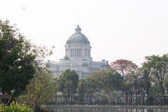 The Ananta Samakom Throne Hall view from Dusit Zoo - Bangkok.,THAILAND. Royalty Free Stock Photo