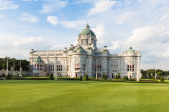 Anantasamakhom Throne Hall in Bangkok with blue sky, Thailand national museum open for public tourist visit Royalty Free Stock Photo