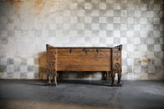 Anantique wooden chest of drawers Royalty Free Stock Photo