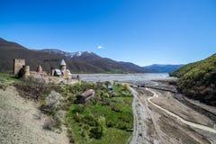 Ananuri城堡 免版税库存图片