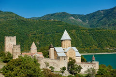 Ananuri ancient church castle in georgia Stock Images
