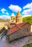 Ananuri castle complex on the Aragvi River in Georgia. Ananuri church on the Aragvi River in Georgia, Europe Stock Photo