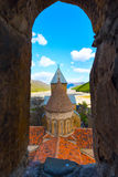 Ananuri castle complex on the Aragvi River in Georgia. Domes of the church of Ananuri castle complex on the Aragvi River in Georgia, Europe Royalty Free Stock Photos