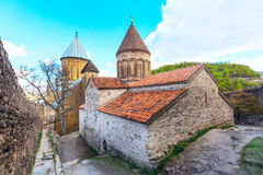 Ananuri castle complex on the Aragvi River in Georgia. Europe Royalty Free Stock Photos