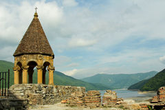 Ananuri is castle complex on the Aragvi River in Georgia. Royalty Free Stock Photography