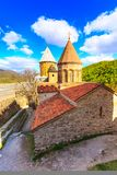 Ananuri castle complex on the Aragvi River in Georgia. Ananuri church on the Aragvi River in Georgia, Europe Stock Photos