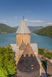 Ananuri church  complex on the Aragvi River. In Georgia Royalty Free Stock Photos