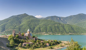 Ananuri church  complex on the Aragvi River. In Georgia Stock Photos
