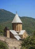 Ananuri-Festung ist auf der militärischen georgischen Straße Stockfotos