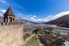 Ananuri fortecy widok Obrazy Stock