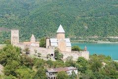 Ananuri Fortess Church near Tbilisi, Georgia. Castle with Church near Tbilisi, Georgia royalty free stock photos