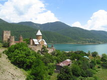 Ananuri fortress in Georgia Royalty Free Stock Photography