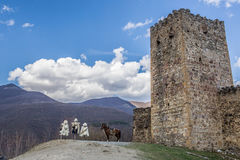Ananuri fortress royalty free stock images