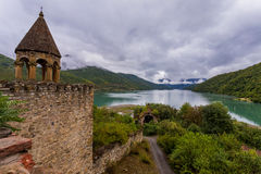 Ananuri fortress view. In Georgia royalty free stock images