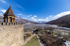 Ananuri fortress view. At winter stock images