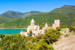 Ananuri, Georgia. Ananuri Church is a castle complex on the Aragvi River in Georgia Royalty Free Stock Photo