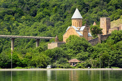 Ananuri medieval castle complex with church on Aragvi river, Geo Royalty Free Stock Image