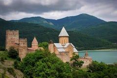 Ananuri. Old georgian fortress Ananuri and the lake Royalty Free Stock Photos