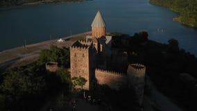 Ananuri powikłany Powietrzny wideo Ananuri ffortress i zhinvali jezioro w Gruzja zdjęcie wideo