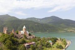 Ananuri Schloss Stockfotos