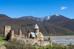 Ananuri-Schloss Stockfotos
