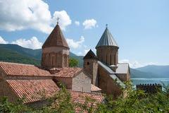 Ananuri slott i Georgia Arkivbild