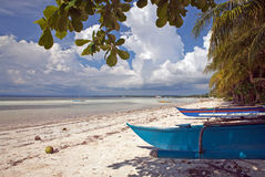 Philippines - White Sand Beach Royalty Free Stock Photography
