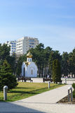 Anapa, Krasnodar Krai Rosja, Marzec, - 08 2017: Kaplica kwadrat w centre miasto blisko miasto administraci Obrazy Stock