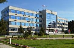 ANAPA, RUSLAND - APRIL 30: De bouw van het beleid Royalty-vrije Stock Foto's