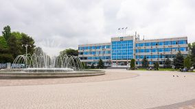 Anapa, Russia - May 13, 2019: The central square with a fountain in front of the administration of Anapa. Anapa, Russia - May 13, 2019: The central square with a royalty free stock photo